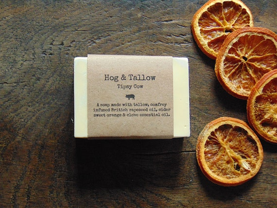 Tipsy Cow - a soap made with cider, sweet orange and clove oil