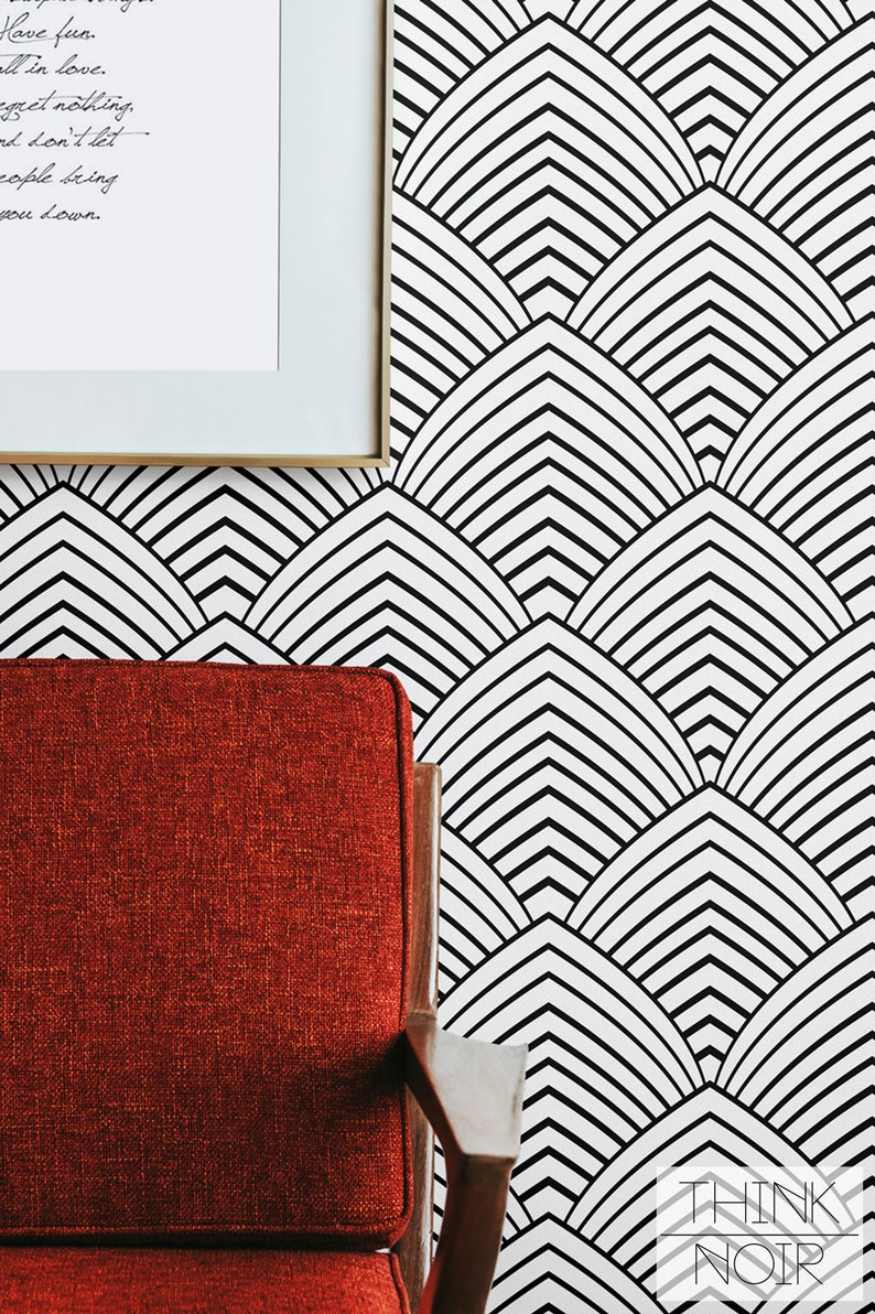 Removable Minimalistic Wallpaper / Self Adhesive Geometric image 0