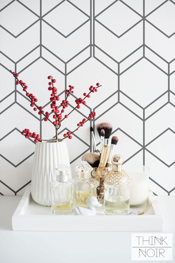 Simple Geometric Removable Wallpaper  Self Adhesive  Regular Wallpaper  Wall Mural Wall Décor Home & Living