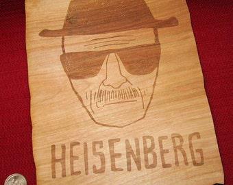 """10"""" Heisenberg inspired, Breaking Bad, Breaking Bad Ornament, Heisenberg ornament, Laser Breaking Bad, Walter White, Wood Breaking Bad"""