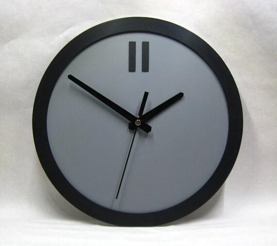 Minimalist Clock Industrial Clock Gray Clock Wall Clock Etsy