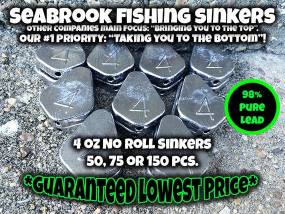*FREE SHIPPING* OZ NO ROLL SLIP SINKERS *BEST PRICE* CHOOSE SIZE AND QUANTITY