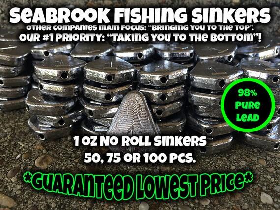 Lead Weights 100pcs 1oz Egg Sinkers // Slip Sinkers Fishing