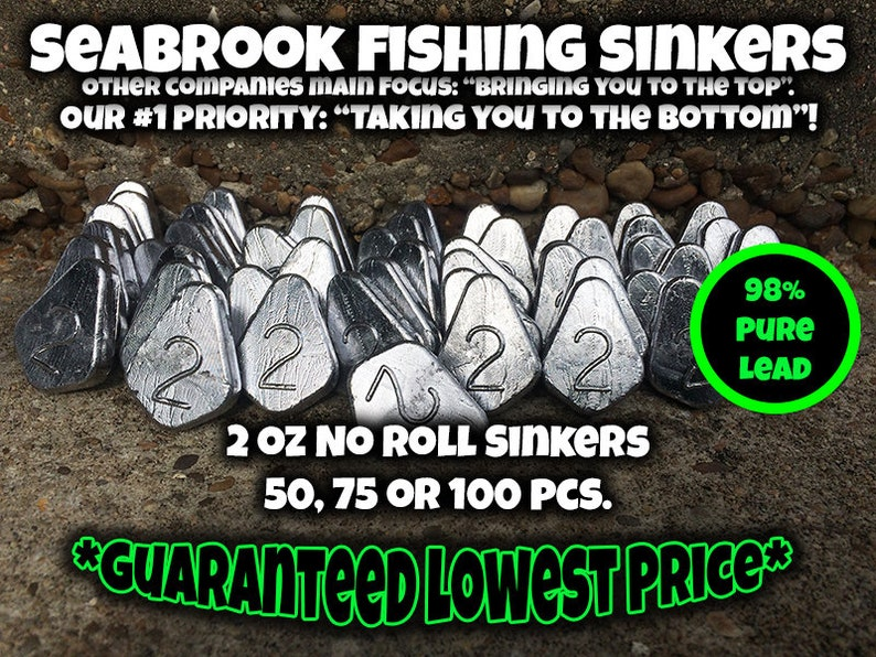 50-2oz Egg Sinkers     FREE SHIPPING