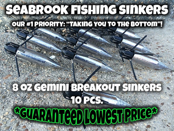 2-8 oz 2 of each Gemini Breakout Sputnik Sinkers full set Pier /& Surf Fishing
