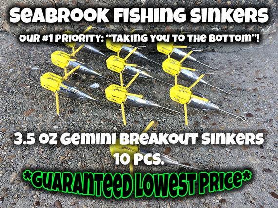3 X 10oz Gemini Breakout Sinkers  Sea Fishing Lead Weights