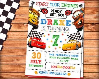 Cars 3 Birthday Invitation Party Invite