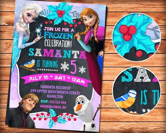 Frozen Invitation Party Girl