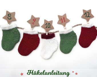 "Crochet & Crafts Guide ""Advent Calendar"" in digital PDF format (download article) German"