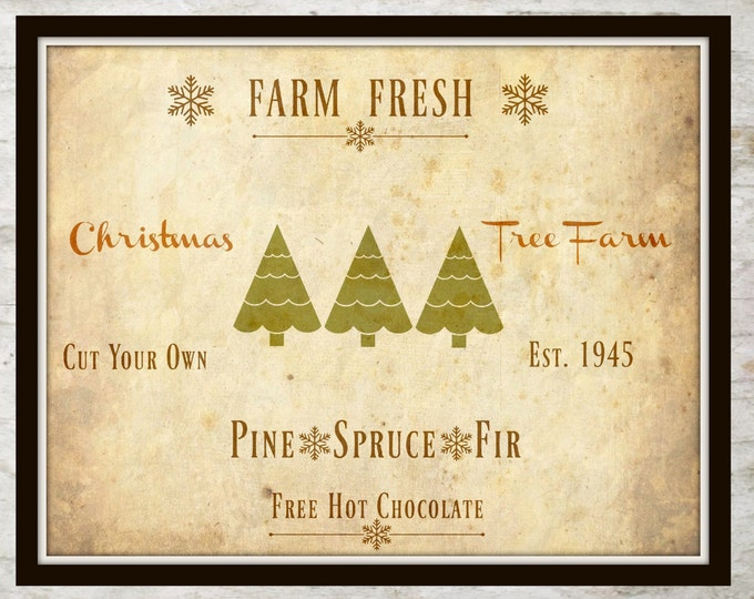 Digital Collage, Farm Inspired, Christmas, Instant Download, Christmas Printable, Farm House Cottage Decor, Vintage Christmas, Digital Paper