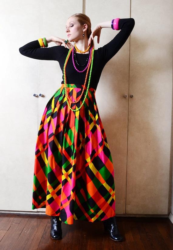 Vintage Jonathan Logan Mutlicolored Maxi Skirt