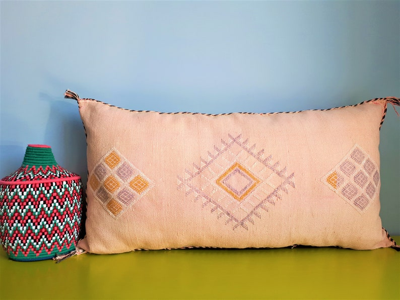 100/% Wool and Cotton 40x40 cm P114 Berber Cushion Cover Square Handmade