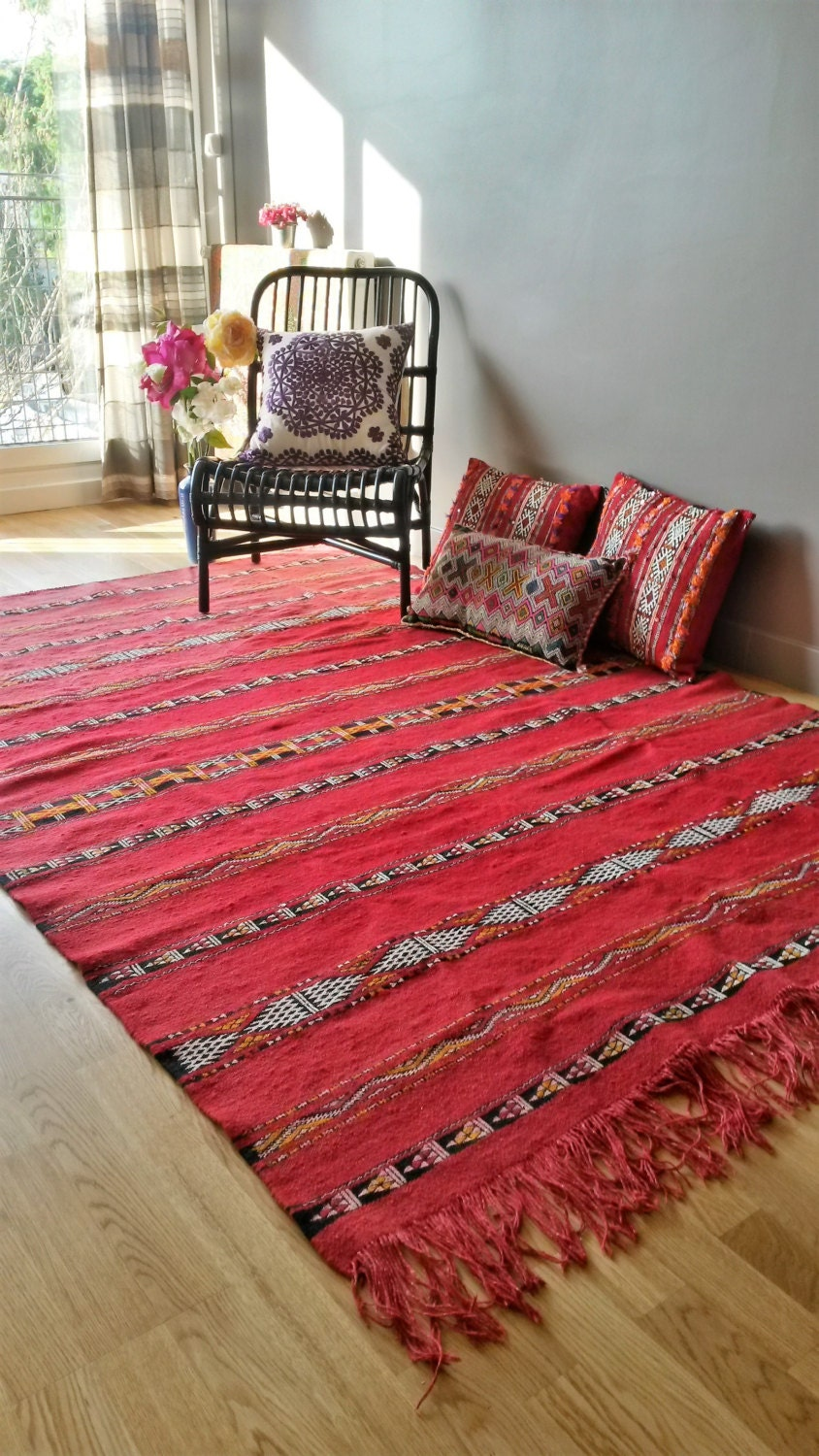 tapis kilim berb re en laine fait main etsy. Black Bedroom Furniture Sets. Home Design Ideas