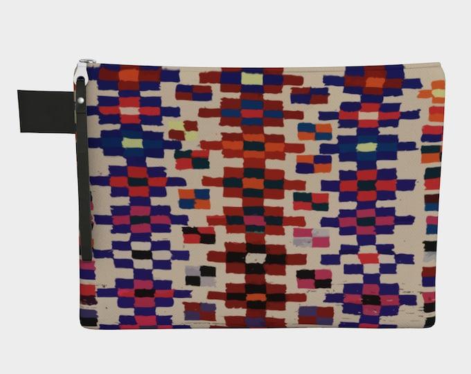 Vintage berber zipper carry-all bohemian pattern