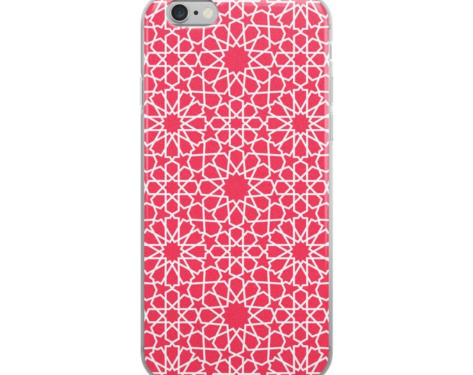 Pink iPhone Case with moroccan patterns style