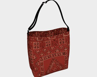 Red Moroccan daily bag insoiration bohemian and vintage