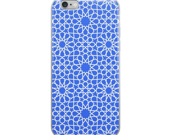 Blue iPhone Case with moroccan style patterns