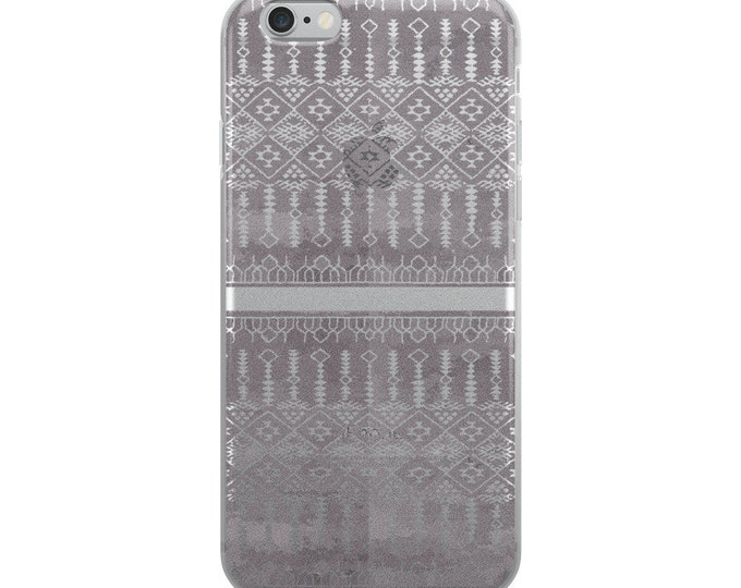 iPhone Case with grey and white original berber patterns