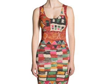 Red Berber inspired Dress