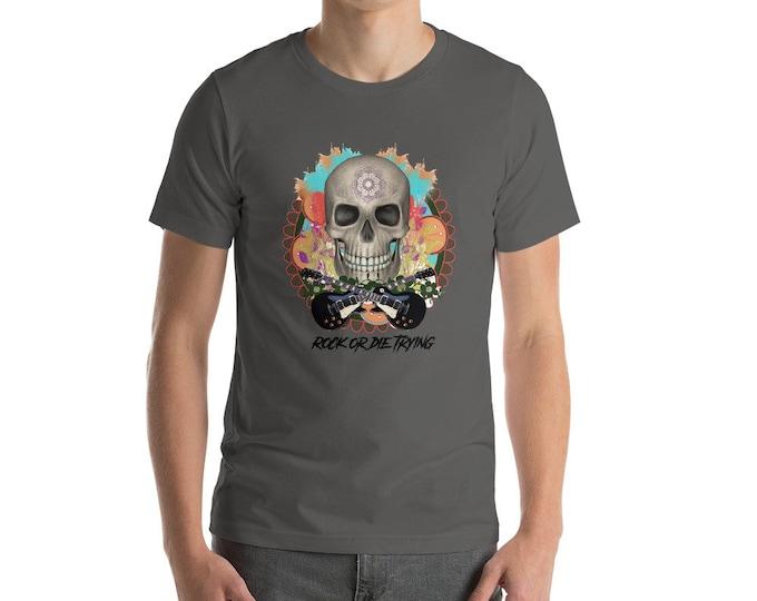 Rock and roll skull Short-Sleeve Unisex T-Shirt