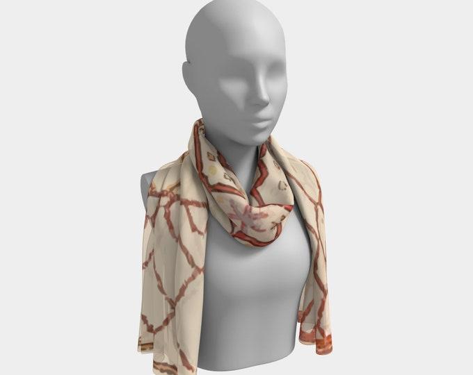 Bohemian scarf berber style beige