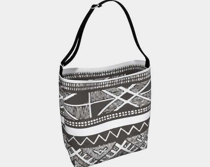 Black and grey moroccan vintage bag
