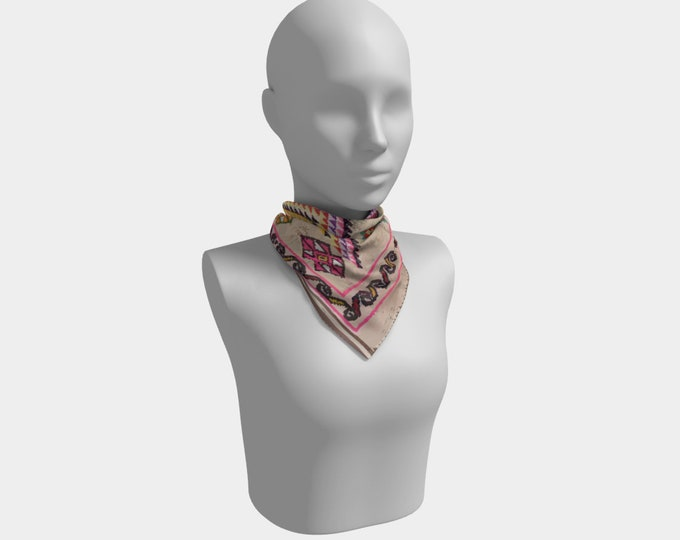 Bohemian pink scarf berber style and Moroccan inspiration