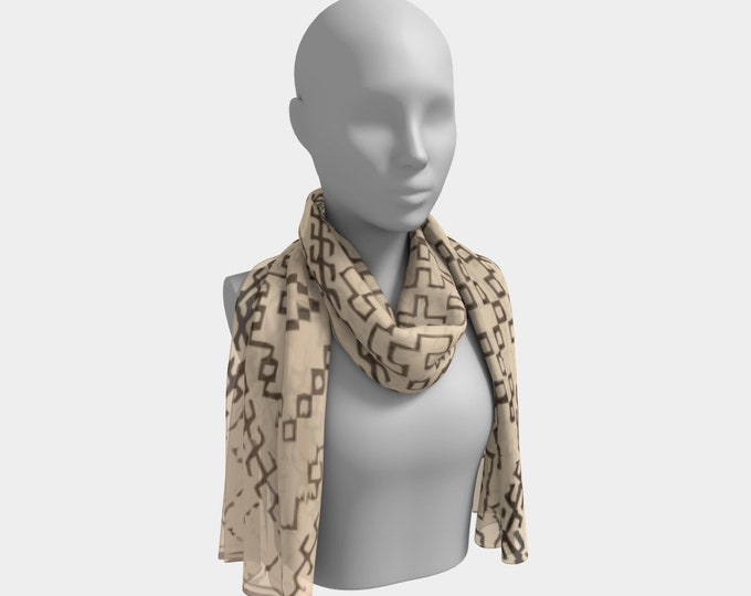 Bohemian scarf moroccan berber style  with pattern