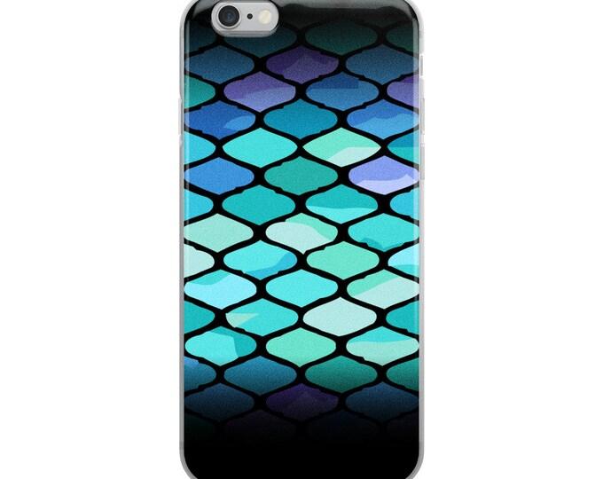 Mermaid black and blue iPhone Case original patterns