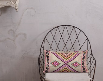 Premium Moroccan Pillow style pink color and berber pattern