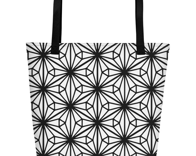 Woman Bag with black pattern morocan style