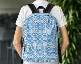 Blue patterns Backpack moroccan style