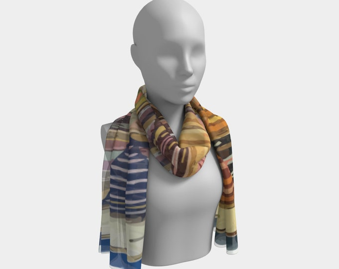bohemian vintage scarf with color pattern moroccan and berber inspiration