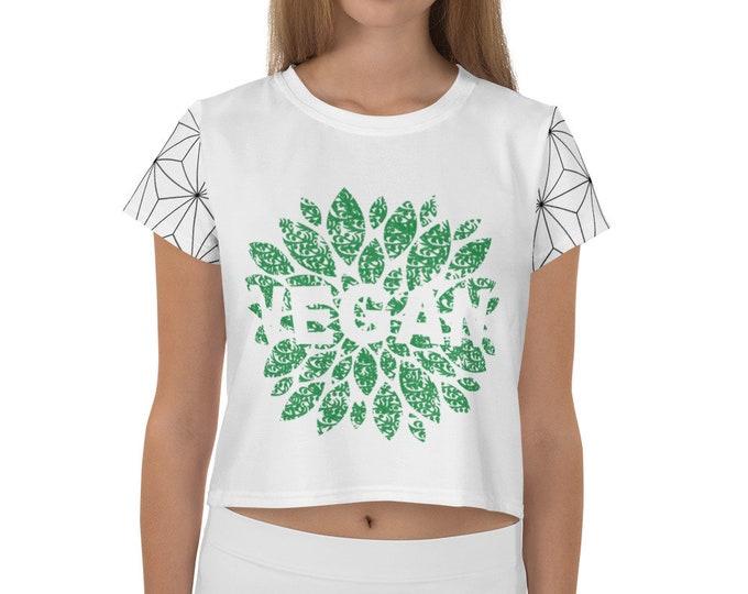 vegan Crop Tee with pattern