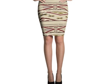 Original Pencil Skirt with berber design pattern