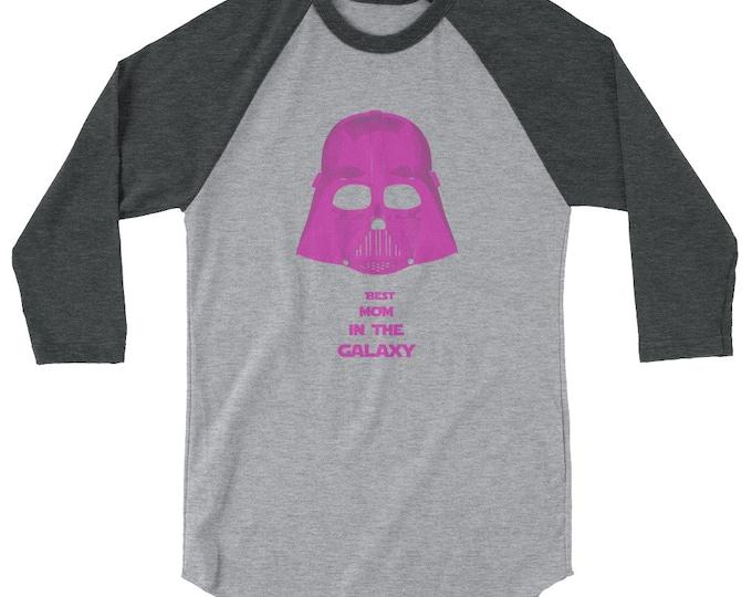 best mom darth vader star wars 3/4 sleeve raglan shirt