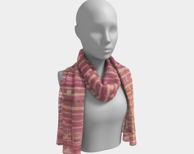 Pink bohemian scarf moroccan and berber style
