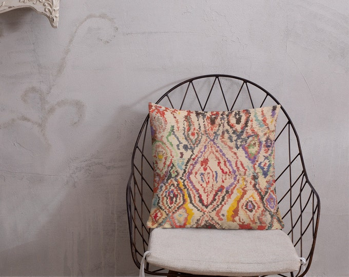 Moroccan Pillow inspiration colorful berber pattern