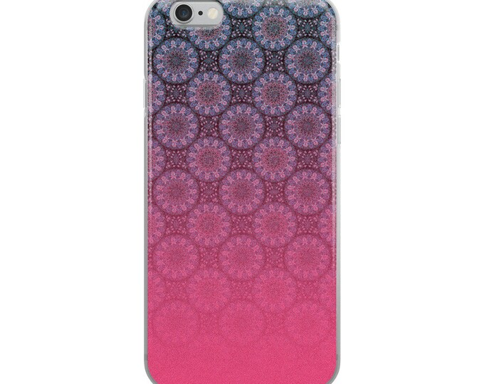 Pink mandala iPhone Case with moroccan patterns