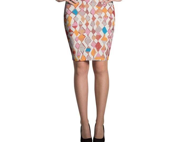 Original ethnic design Pencil Skirt moroccan and berber pattern
