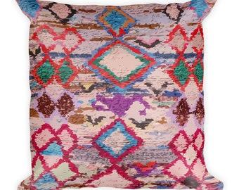 Moroccan pillow purple berber pattern inspiration bohemian and vintage