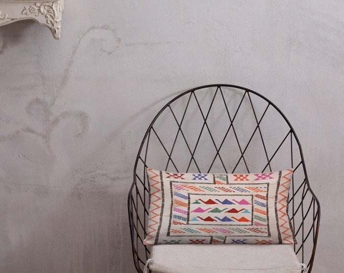 Morocco Pillow berber pattern inspiration vintage and bohemian