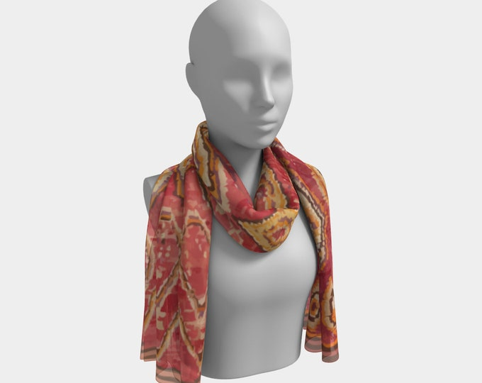 red vintage bohemian scar Moroccan berber style