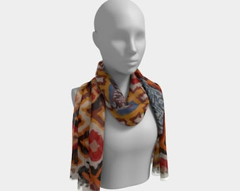 vintage bohemian scarf berber and moroccan style