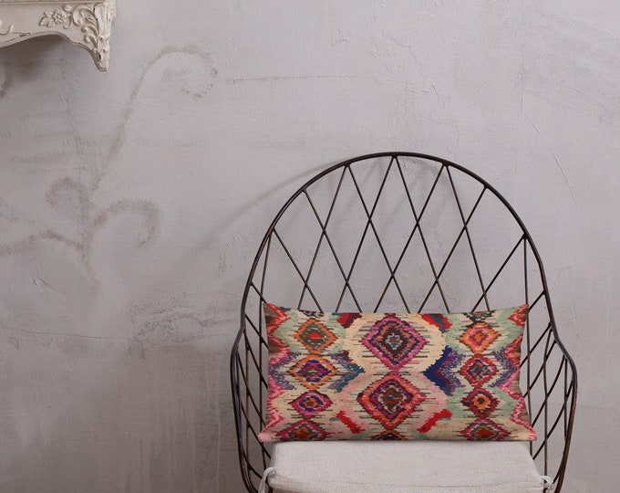 Morocco  Pillow red berber patterns inspiration vintage and bohemian