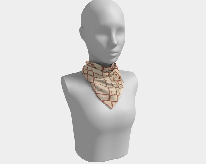 Beige vontage berber scarf Bohemian style Moroccan inspired