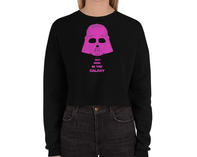 Best mom Darth Vader Crop Sweatshirt