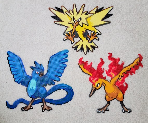 Oiseaux Légendaires Pokemon Heartgold Soulsilver Perler Bead Sprite Art Figure