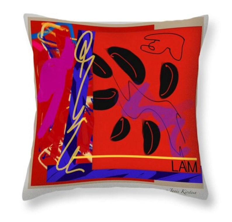 Flower Pillow for Meditation LAM Root Chakra