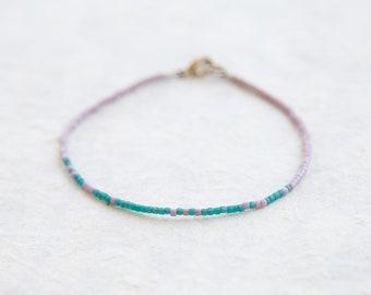 Lavender and Teal Singlet Bracelet